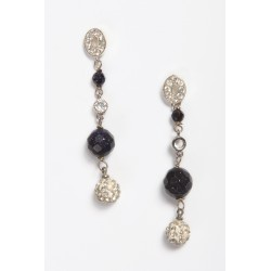 Earring Blue Goldstone