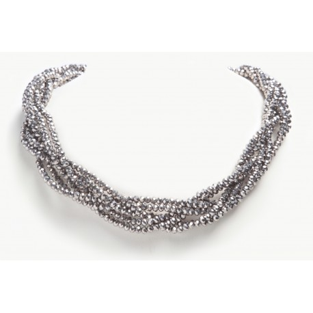 Necklace Cristal Braided