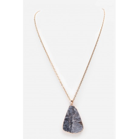 Necklace Agathe Grey
