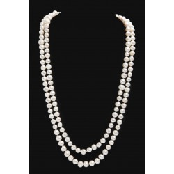 Long Pearl Necklace Charline white