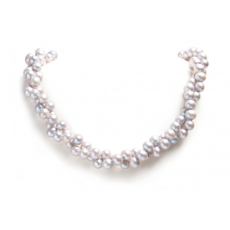 Long Pearl Necklace Charline Grey