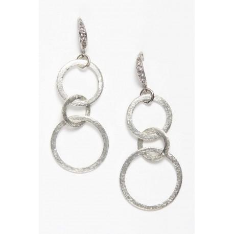 Earring Double Loop Silver